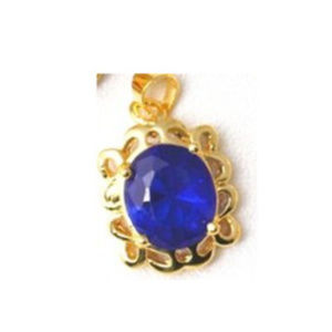 18K Gold Filled Blue Crystal Pendant Jewelry